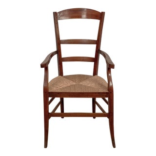 French Country Fruit Wood Armchair, 1860 For Sale