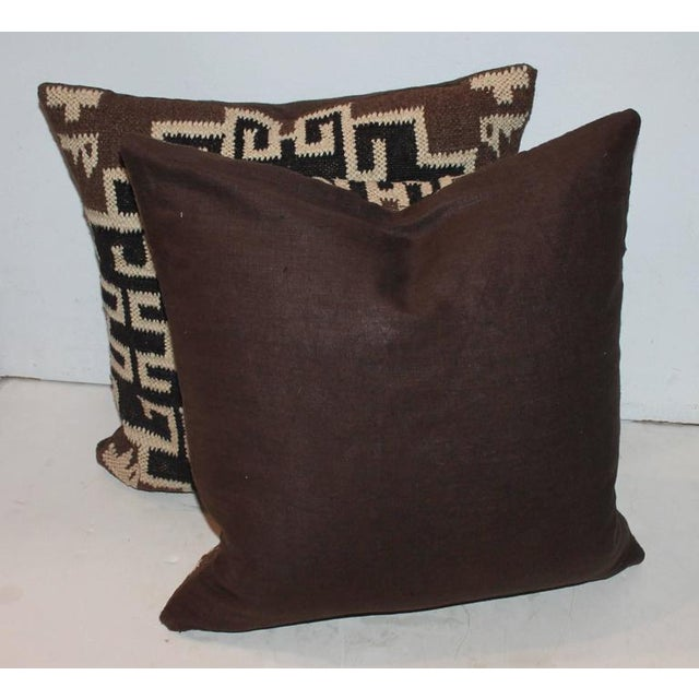 Pair of Indian Weaving Pillows - Image 2 of 6