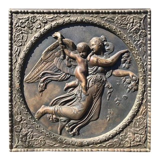 Bronze Neoclassical Relief of Day by Bertel Thorvaldsen For Sale