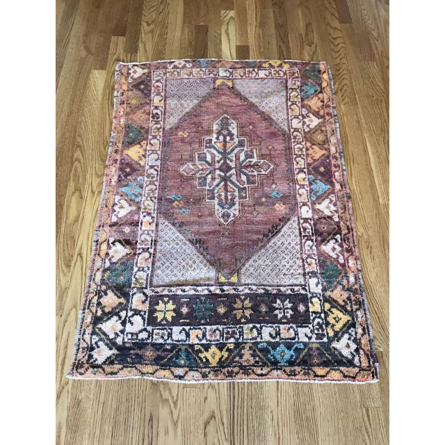 """Fiber Bellwether Rugs Turkish Patina """"Lo"""" Rug - 2′8″ × 3′11″ For Sale - Image 7 of 7"""