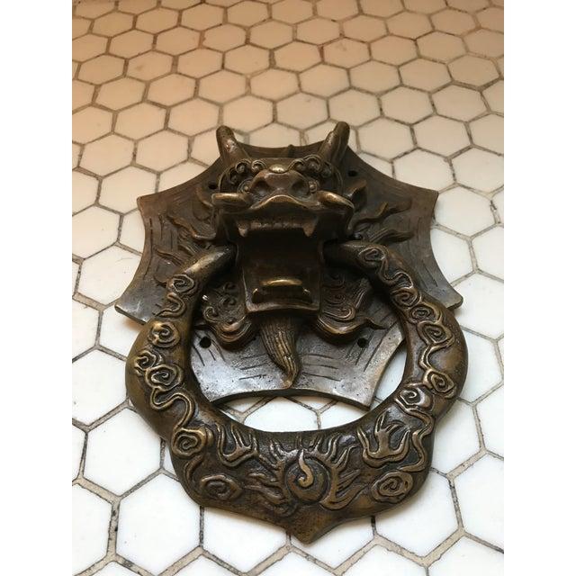 Asian Dragon Brass Door Knocker - Image 4 of 10