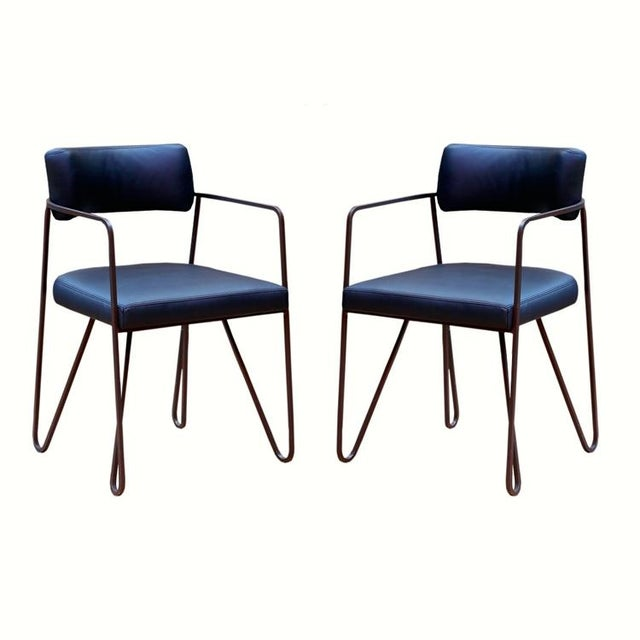 Wire Dining Chairs - Pair - Image 2 of 3
