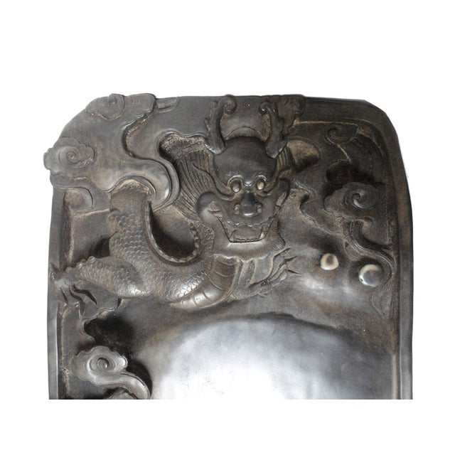 Chinese Inkstone Dragon Sculpture Calligraphy Tool - Image 4 of 6