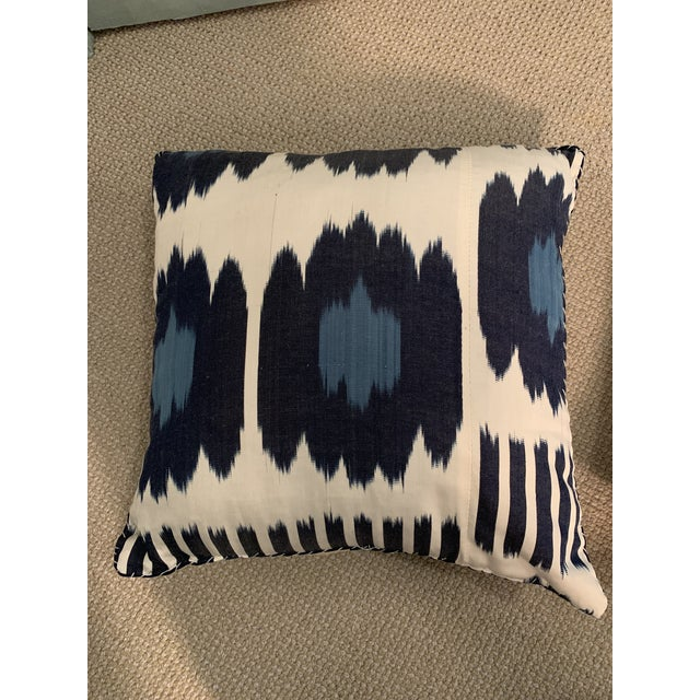 Contemporary Contemporary Madeline Weinrib 18x18 Blue Collins Pillows - a Pair For Sale - Image 3 of 12