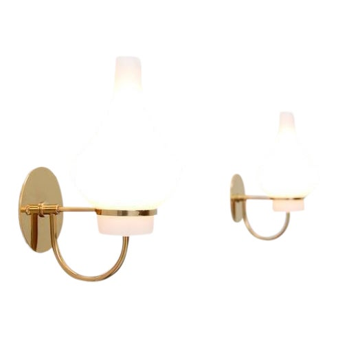 Modern Italian 1950s Sconces - Image 1 of 9