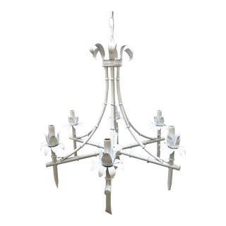 Vintage Faux Bamboo Chandelier For Sale