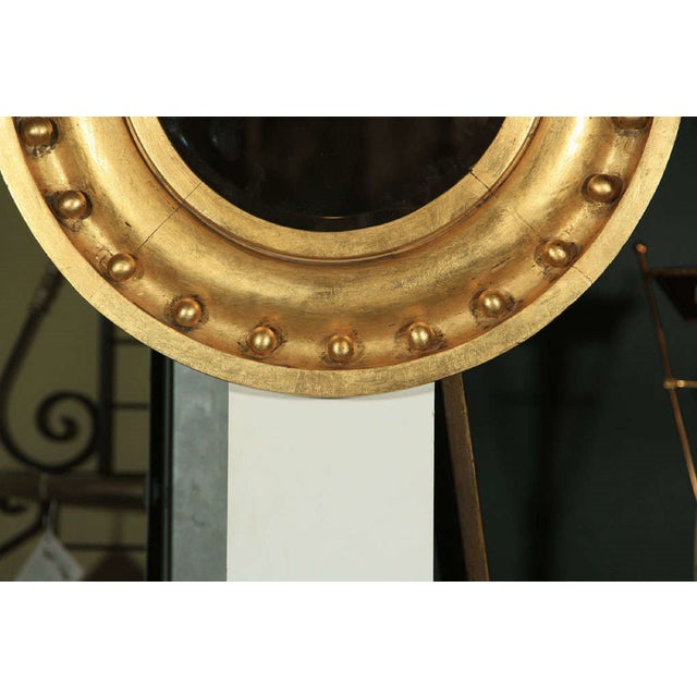 Traditional Antique Circular Gilded Mirror For Sale - Image 3 of 4