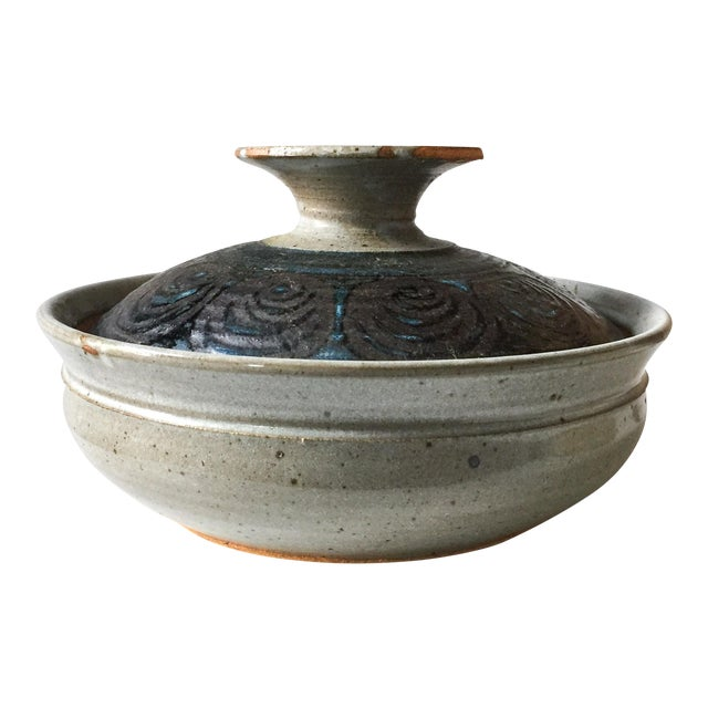Signed Gerry Williams Mid-Century Stoneware Lidded Bowl - Image 1 of 7