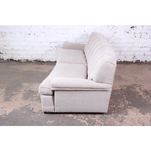 Mid-Century Modern Curved Tufted Sofa, Newly Reupholstered For Sale In South Bend - Image 6 of 12