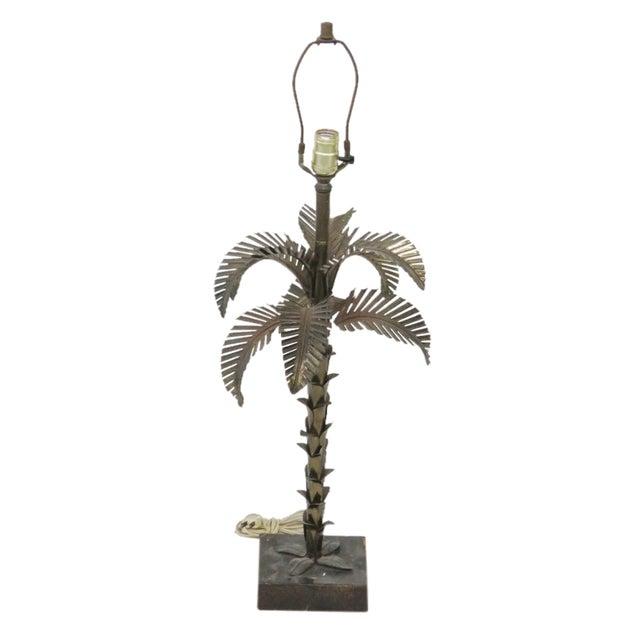 Maison Jansen Style Metal Palm Tree Lamp - Image 1 of 4
