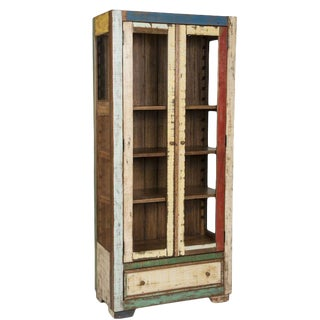Modern Farmhouse Reclaimed Wood China Cabinet For Sale