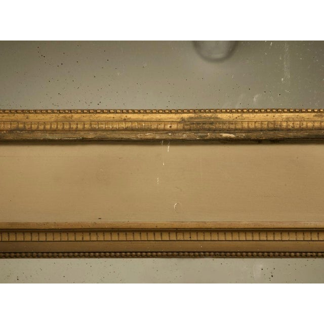 French Circa 1880 French Painted Trumeau Mirror For Sale - Image 3 of 12