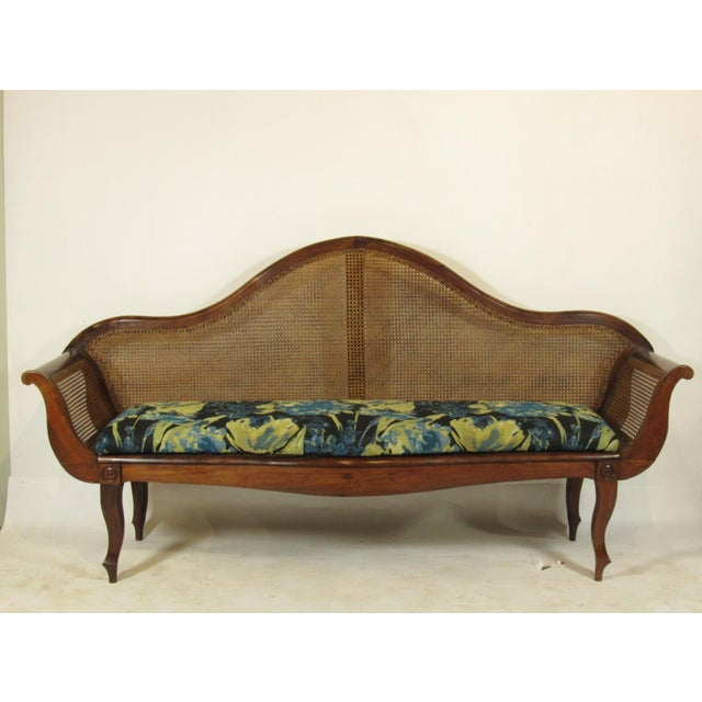 19th C. British Colonial Rosewood Settee For Sale - Image 13 of 13