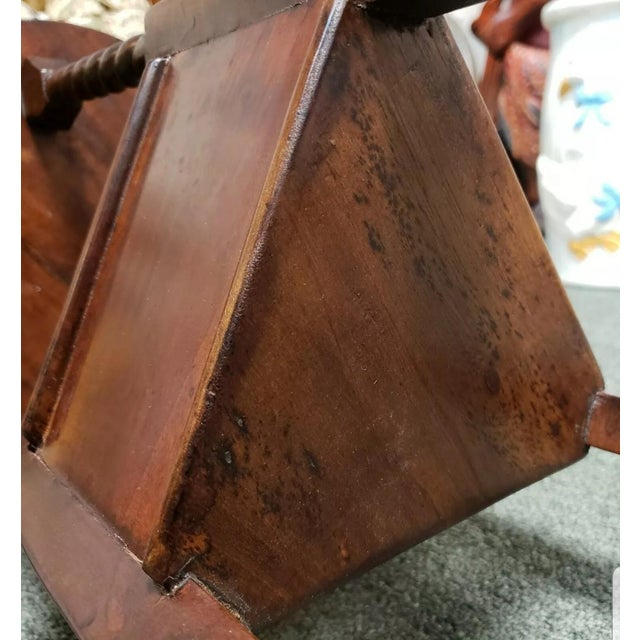 Wood 1880 English Victorian Queen Anne Style Mahogany Wash Stand For Sale - Image 7 of 9