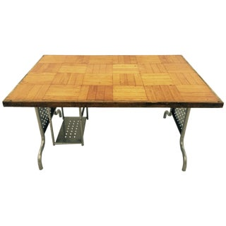 Vintage Hand Made Parquet Desk For Sale