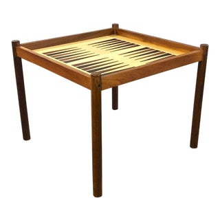 1960s Danish Modern Teak Games Table For Sale