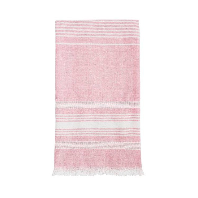 Boho Chic Light Pink Cotton Kitchen Towel For Sale - Image 4 of 4