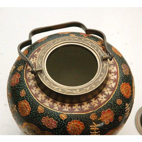 Asian Satsuma Biscuit Barrel with Lid For Sale - Image 3 of 10