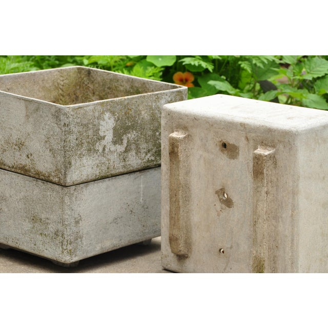 Mid-Century Modern Stackable Fiber Concrete Planter by Eternit Sa, Switzerland, 1960s For Sale - Image 3 of 5