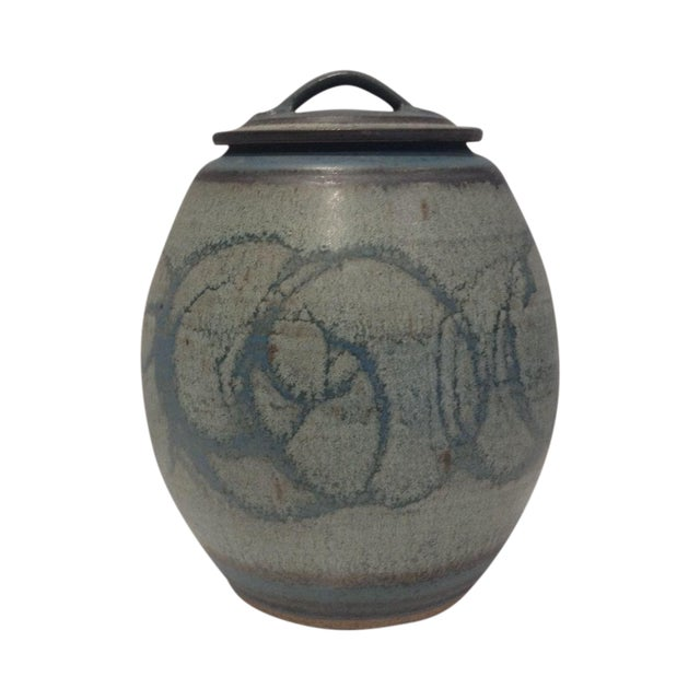 Mid-Century Studio Pottery Lidded Jar - Image 1 of 5