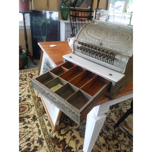 Late 19th Century 19th Century Neoclassical Iron Cash Register For Sale - Image 5 of 9