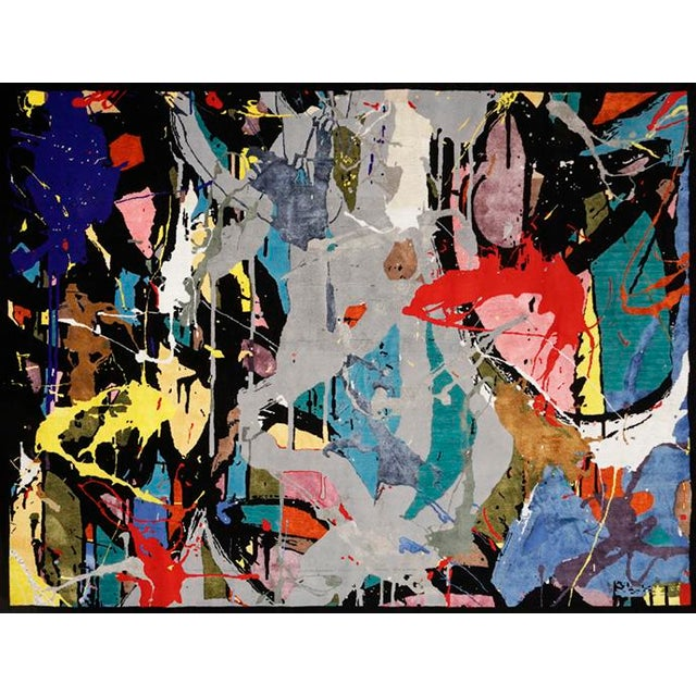"""Silk Boccara Limited Edition Hand Knotted Artistic Rug, """"Street Art"""" For Sale - Image 7 of 7"""