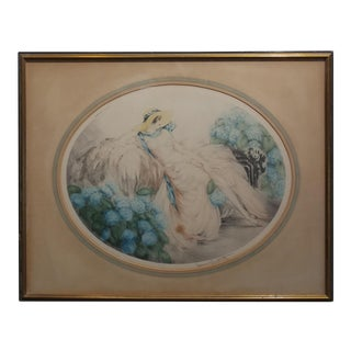 Louis Icart - Hortense -1920s Original Etching -Signed & numbered