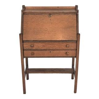 Ca. 1880 Mission Arts & Crafts Oak Secretary Desk For Sale