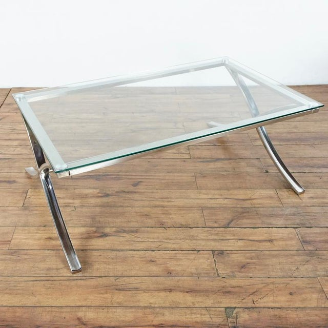 Glass and Chrome coffee table from Z Gallerie. Original Price $500.00.