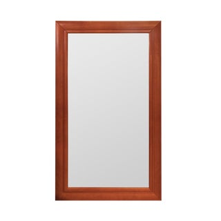 Contemporary Leather Wrapped Wall Mirror For Sale