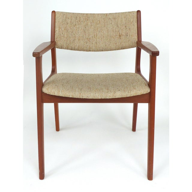 Scandinavian Modern Teak Armchairs - a Pair For Sale In Miami - Image 6 of 13