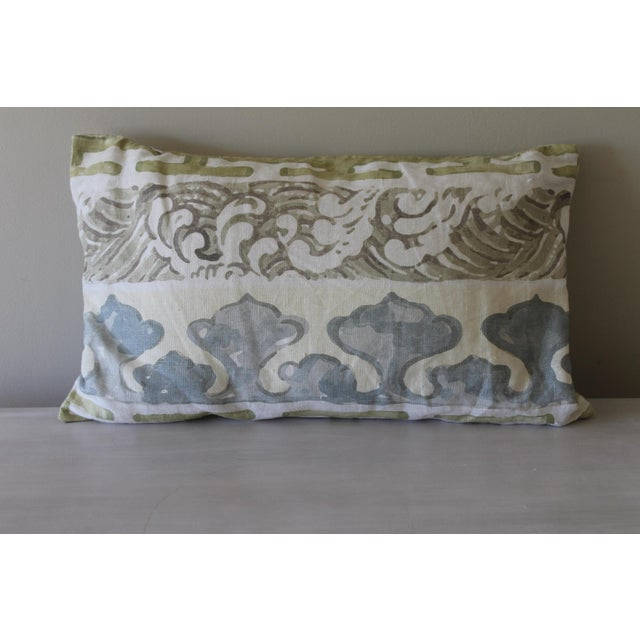 This beautiful lumbar pillow is such a great deal. The dramatic scale of the design is countered by the clubby linen...