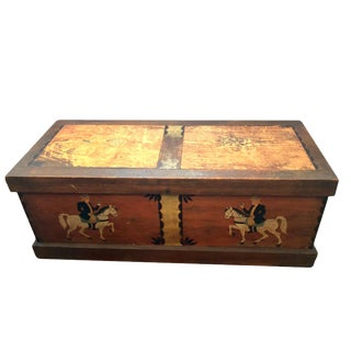 19th Century Folk Art Painted Chest For Sale