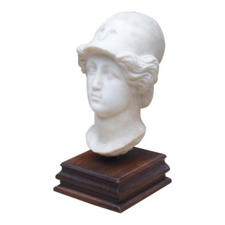 Antique Marble Bust on Stand For Sale