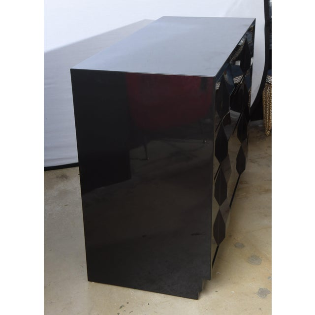 Mid-Century Modern Italian Modern Black Lacquered Nightstands, Poltronova, 1960's For Sale - Image 3 of 10