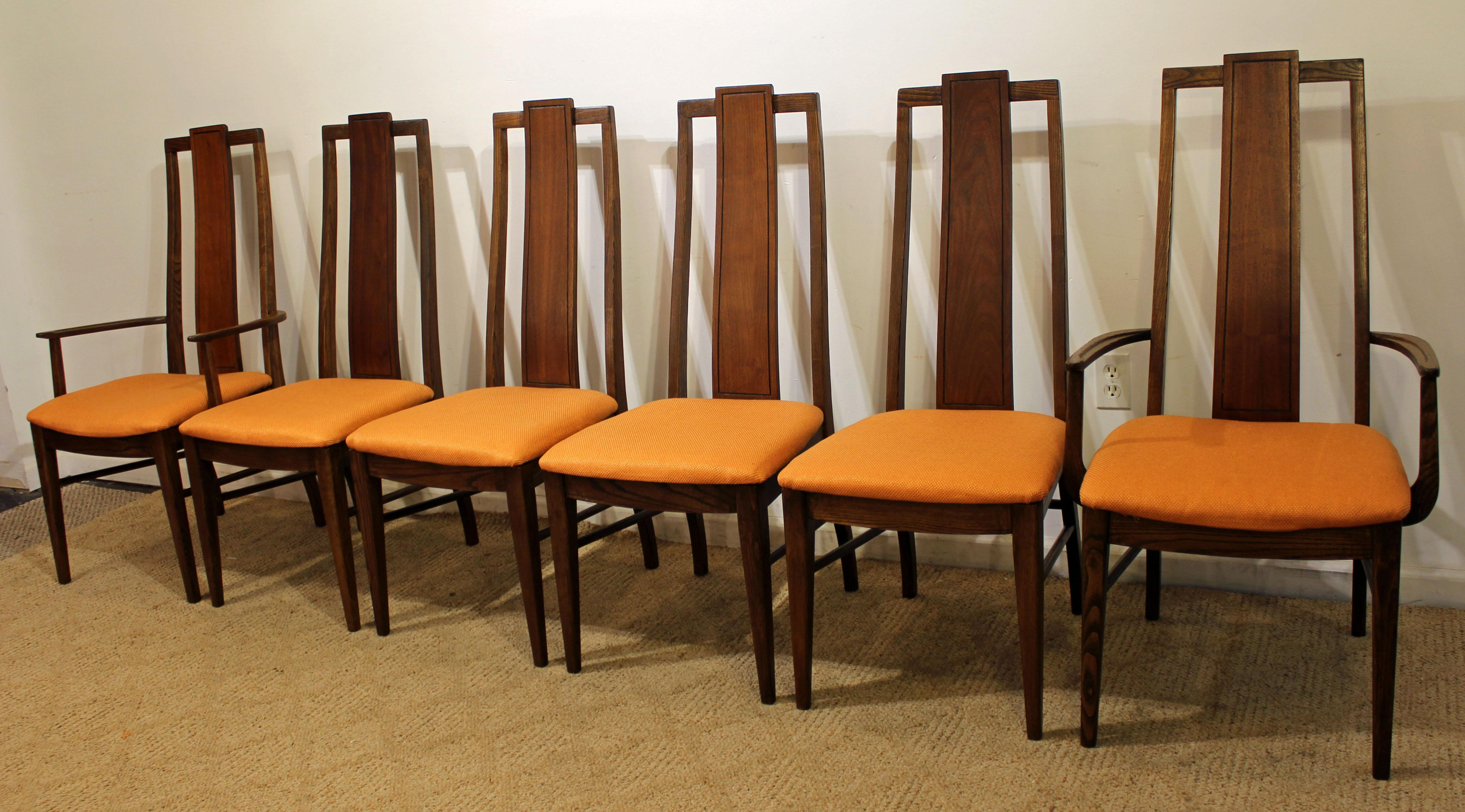 What A Find. Offered Is A Set Of 6 Mid Century Modern Dining Chairs