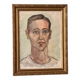 1940s Jane Davenport Watercolor Painting For Sale