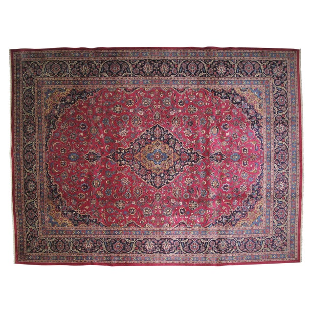 "Leon Banilivi Persian Mashad Carpet - 9'10"" X 13'2"" - Image 1 of 6"