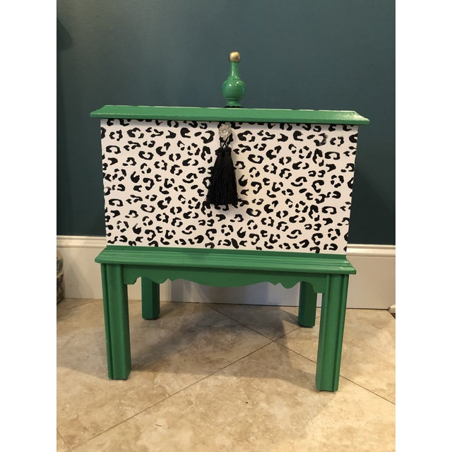 Leopard Motif Black and White Chest For Sale - Image 10 of 10