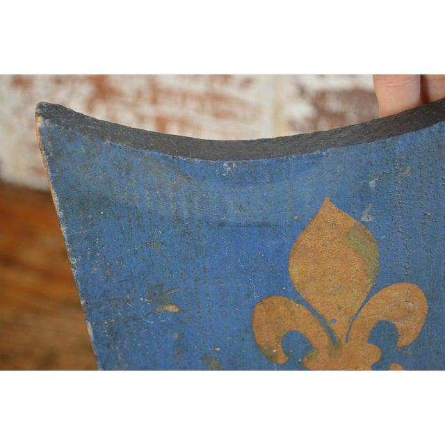 Vintage French Painted Family Shield For Sale - Image 11 of 13
