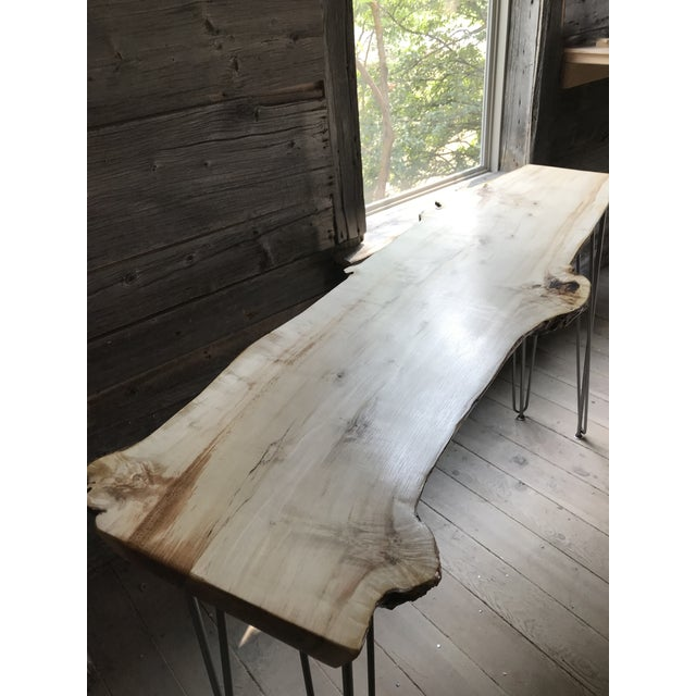 Brown Live Edge Console Table For Sale - Image 8 of 12