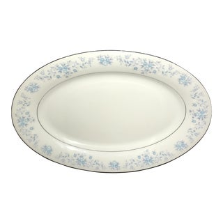 1940s Blue Flowers Helen Platter For Sale