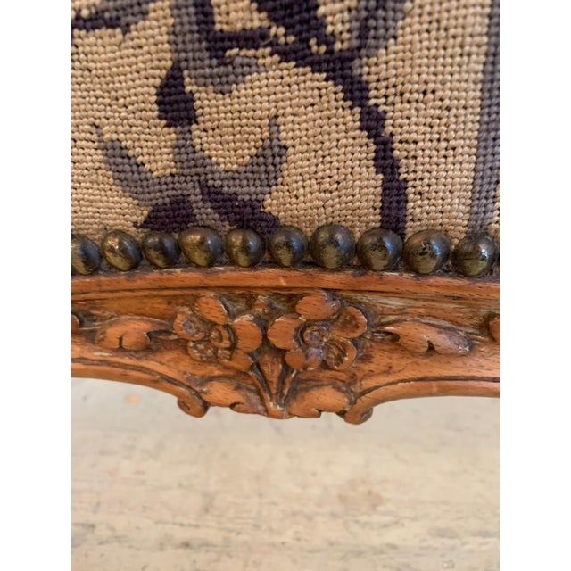Louis XV Style Antique Upholstered Fireplace Screen For Sale - Image 4 of 9