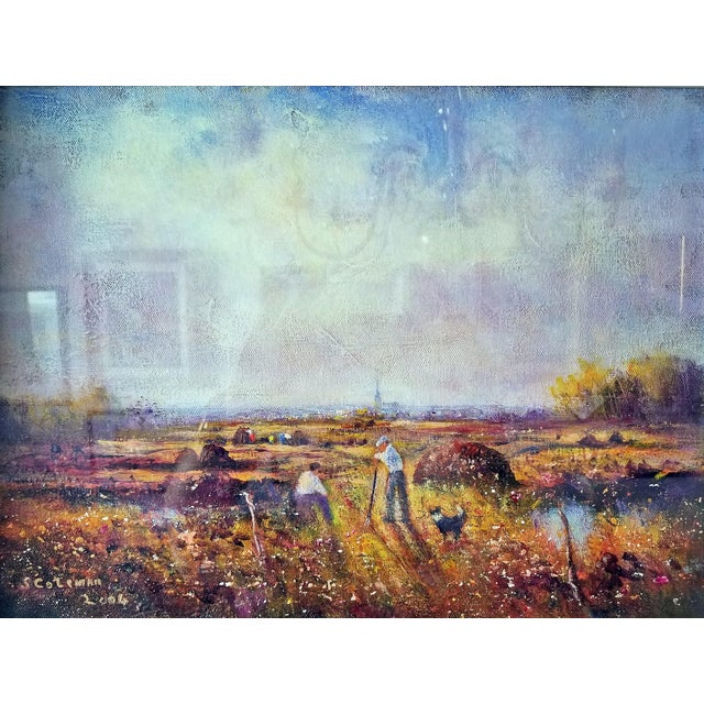 Early 21st Century early 21st Century Irish Oil on Canvas of Ballaghadereen Bog by Seamus Coleman For Sale - Image 5 of 9