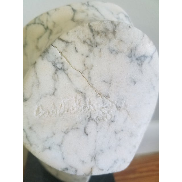 1980s 1986 Abstract Marble Sculpture For Sale - Image 5 of 6