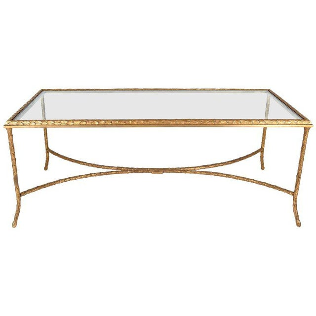 Bronze French Gilt Bronze Cocktail Table in the Style of Maison Baguès, circa 1950s For Sale - Image 7 of 7