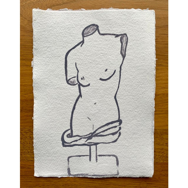 Contemporary Lindsey Weicht Female Sculpture No. 1 Drawing For Sale - Image 3 of 5