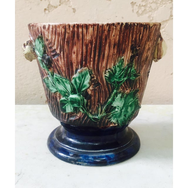 Majolica Palissy Cachepot For Sale In Austin - Image 6 of 6