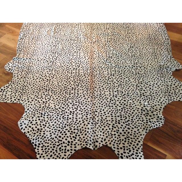 Brazilian Cheetah Print Cowhide Rug - 5′ × 7′ - Image 3 of 6