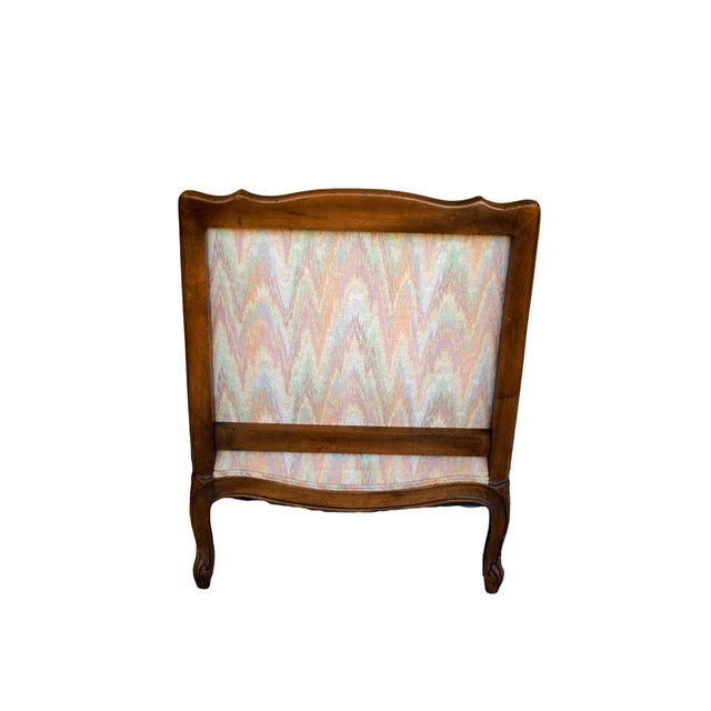 Double-Caned Rainbow Chevron Chair - Image 3 of 6